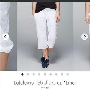 Lululemon Studio Capris.